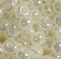 Бисер №47102, №10, Preciosa (Чехия), молочный перламутровый, непрозрачный