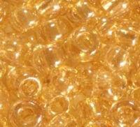 Бисер №48015, №10, Preciosa (Чехия), светло-бежевый глазурированный, прозрачный