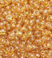 Бисер №48018, №10, Preciosa (Чехия), светло-коричневый, прозрачный