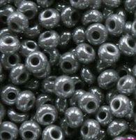 Бисер №48020, №10, Preciosa (Чехия), серебристо-серый перламутровый, непрозрачный