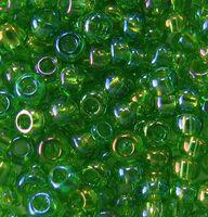 Бисер №51430, №10, Preciosa (Чехия), зелёно-салатовый радужный, прозрачный