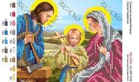 Святое Семейство БКР 5198 схема с рисунком для вышивания бисером на габардине