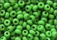 Бисер №53210, №10, Preciosa (Чехия), светло-зелёный, непрозрачный