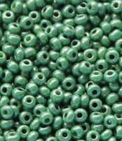 Бисер №53233, №10, Preciosa (Чехия), малахито-зелёный, непрозрачный