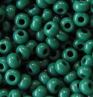 Бисер №53240, №10, Preciosa (Чехия), бирюзово- зелёный, непрозрачный