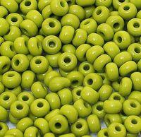 Бисер №53430, №10, Preciosa (Чехия), оливковый, непрозрачный