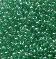 Бисер №56100, №10, Preciosa (Чехия), зелёный люстровый, прозрачный