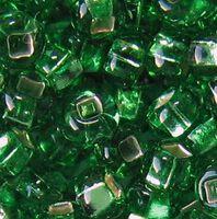 Бисер №57100, №10, Preciosa (Чехия), зелёный светлый блестящий, полупрозрачный