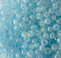 Бисер №57534,№10, Preciosa (Чехия) светло-голубой радужный жемчуг, непрозрачный