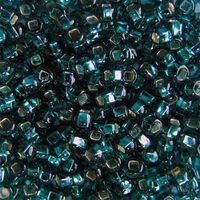 Бисер №57710, №10, Preciosa (Чехия), изумрудный блестящий, прозрачный