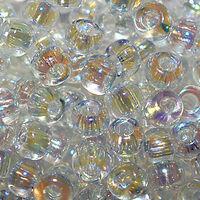 Бисер №58135, №10, Preciosa (Чехия), белый радужный, прозрачный