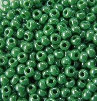 Бисер №58250, №10, Preciosa (Чехия),зеленый жемчужный, непрозрачный