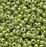 Бисер №58430, №10, Preciosa (Чехия), оливковый перламутровый, непрозрачный