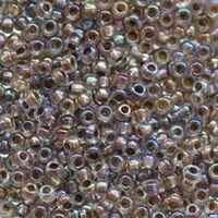 Бисер №58518, №10, Preciosa (Чехия), бежевый радужный, прозрачный