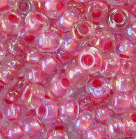 Бисер №58594, №10, Preciosa (Чехия), светло-розовый радужный, прозрачный