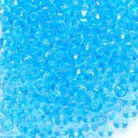 Бисер №60000, №10, Preciosa (Чехия), светло-голубой, прозрачный