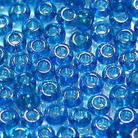 Бисер №61150, №10, Preciosa (Чехия), голубой радужный, прозрачный