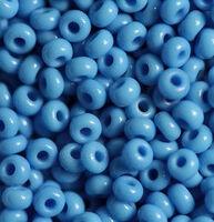 Бисер №63050, №10, Preciosa (Чехия), тёмно-голубой натуральный, непрозрачный