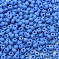 Бисер №63080, №10, Preciosa (Чехия), сине-голубой, натуральный, непрозрачный