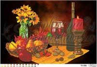 Романтичный натюрморт, ТК-086 схема-рисунок для вышивания бисером на атласе