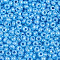 Бисер №64050, №10, Preciosa (Чехия), голубой, жемчужный, непрозрачный
