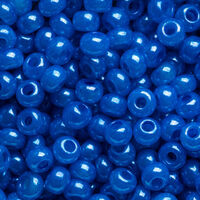 Бисер №17765, №10, Preciosa (Чехия), голубой с бирюзовым оттенком  алебастр, непрозрачный