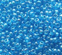 Бисер №66030, №10, Preciosa (Чехия), тёмно-голубой, глянцевый, прозрачный