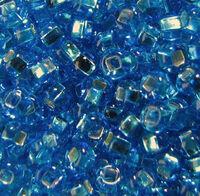 Бисер №67030, №10, Preciosa (Чехия), сине-голубой, блестящий, прозрачный