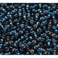 Бисер №67100, №10, Preciosa (Чехия), синий, блестящий, прозрачный