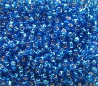 Бисер №67150, №10, Preciosa (Чехия), голубой тёмный, блестящий, прозрачный
