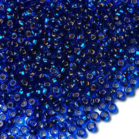 Бисер №67300, №10, Preciosa (Чехия), синий, блестящий, прозрачный