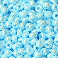 Бисер №68000, №10, Preciosa (Чехия), светло-голубой, жемчужный, непрозрачный