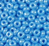 Бисер №68020, №10, Preciosa (Чехия), голубой, жемчужный, непрозрачный