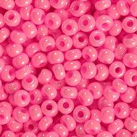 Бисер №16173, №10, Preciosa (Чехия), светло-розовая глазурь, непрозрачный