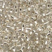 Бисер №78102, №10, Preciosa (Чехия), прозрачный с серебром