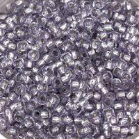 Бисер №78121, №10, Preciosa (Чехия), сиренево-серый, прозрачный