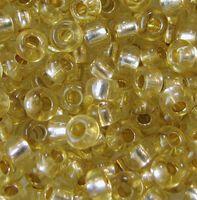 Бисер №78151, №10, Preciosa (Чехия), бледно-жёлтый блестящий, прозрачный