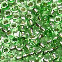 Бисер №78161, №10, Preciosa (Чехия), зелёный блестящий, прозрачный