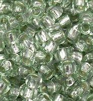 Бисер №78162, №10, Preciosa (Чехия), светло-серозелёный блестящий, прозрачный