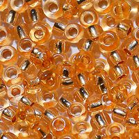 Бисер №78183, №10, Preciosa (Чехия), персиковый блестящий, прозрачный