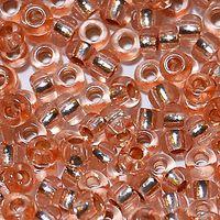 Бисер №78185, №10, Preciosa (Чехия), песочно-персиковый блестящий, прозрачный
