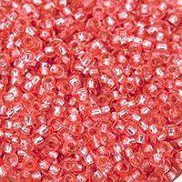 Бисер №78191, №10, Preciosa (Чехия), коралловый блестящий, прозрачный
