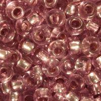 Бисер №78195, №10, Preciosa (Чехия), розово-сиреневый блестящий, прозрачный