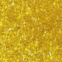 Бисер №80010, №10, Preciosa (Чехия), жёлтый , прозрачный