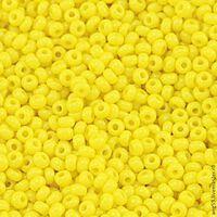 Бисер №83110, №10, Preciosa (Чехия), ярко-жёлтый глянцевый, непрозрачный