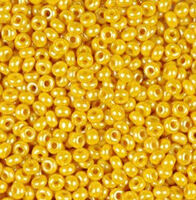 Бисер №83111, №10, Preciosa (Чехия), жёлтый глазурованный, непрозрачный