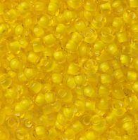 Бисер №85016, №10, Preciosa (Чехия), жёлтый мелованный, прозрачный