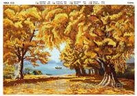 Осень, МикаА 010 схема для вышивки бисером и крестиком на ткани