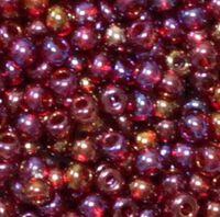 Бисер №91120, №10, Preciosa (Чехия), вишнево-бордовый радужный, прозрачный