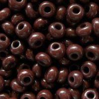Бисер №93300, №10, Preciosa (Чехия), коричнево-шоколадный натуральный, непрозрачный